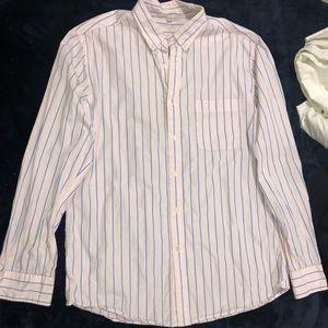 Light Pink Striped Button-Up
